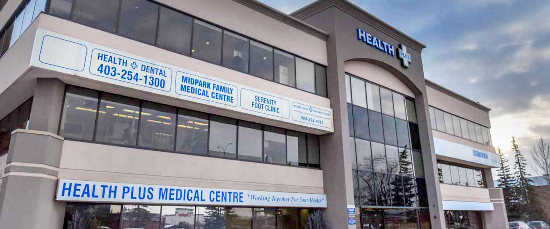 Exterior Of Health Plus Dental at Health Plus Medical Centre Banner